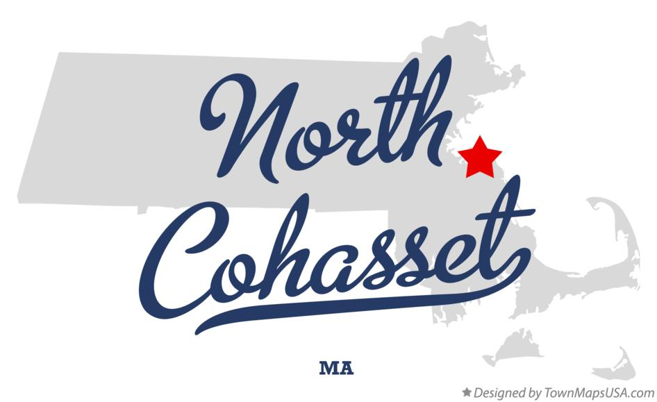 Map of North Cohasset Massachusetts MA