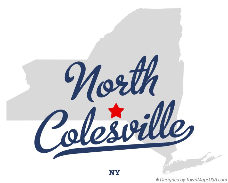Map of North Colesville New York NY