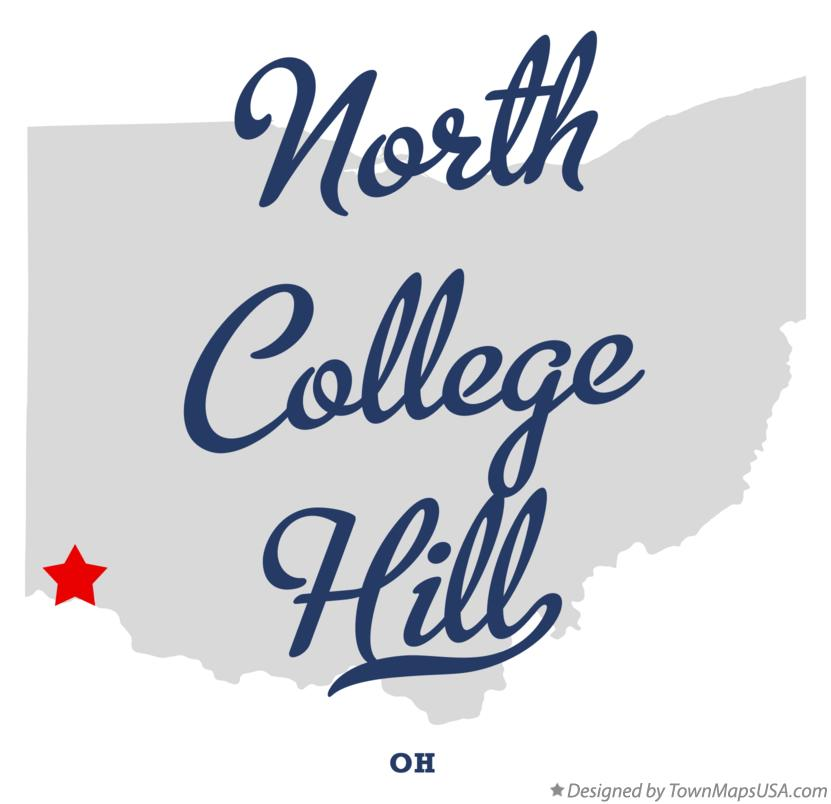 Map of North College Hill Ohio OH