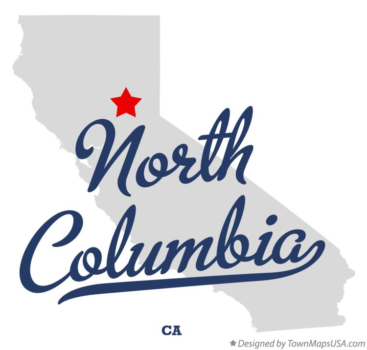 Map of North Columbia California CA