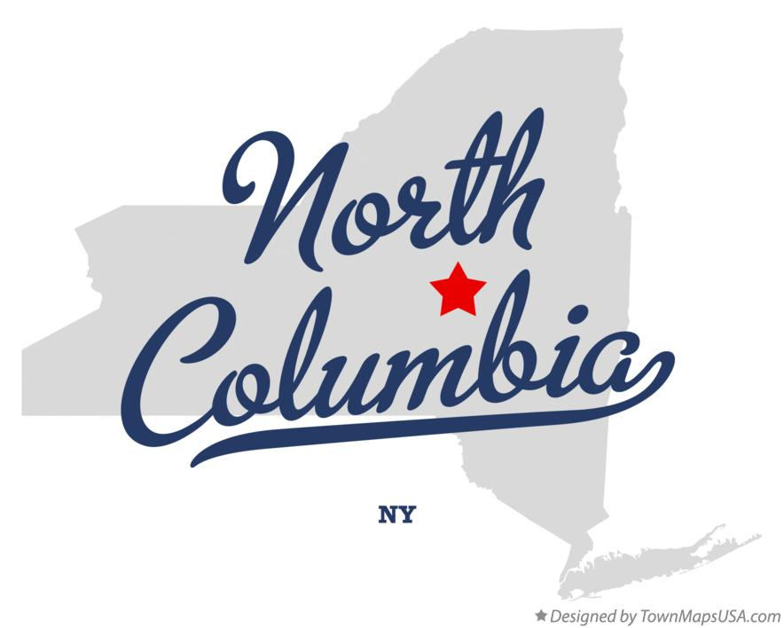 Map of North Columbia New York NY