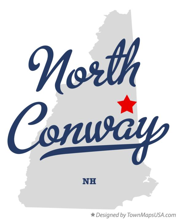 Map of North Conway New Hampshire NH
