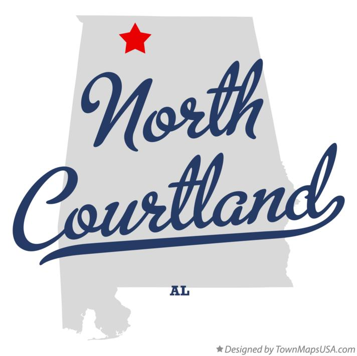 Map of North Courtland Alabama AL