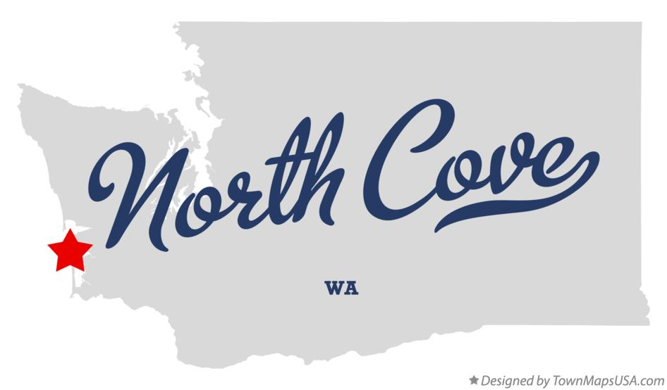 Map of North Cove Washington WA