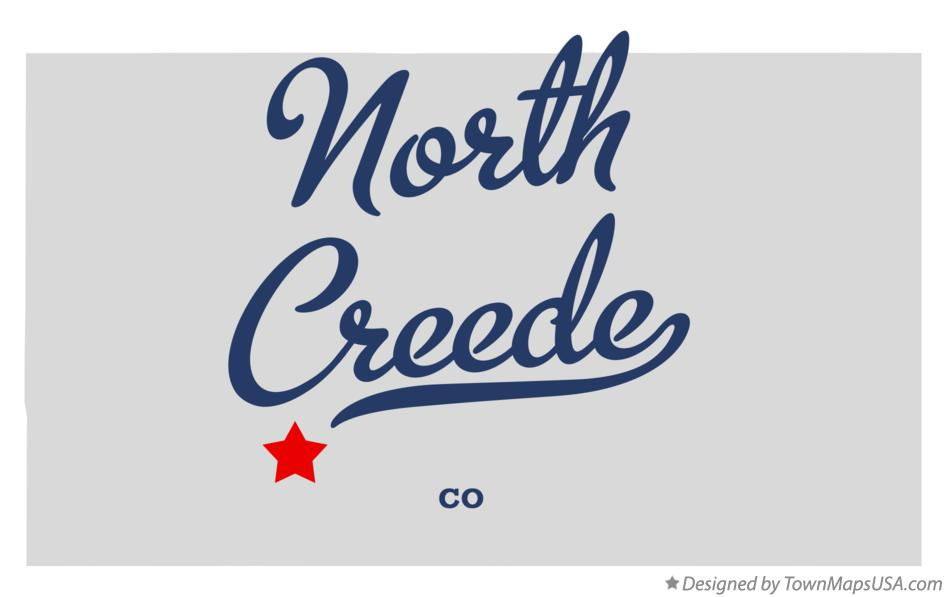 Map of North Creede Colorado CO