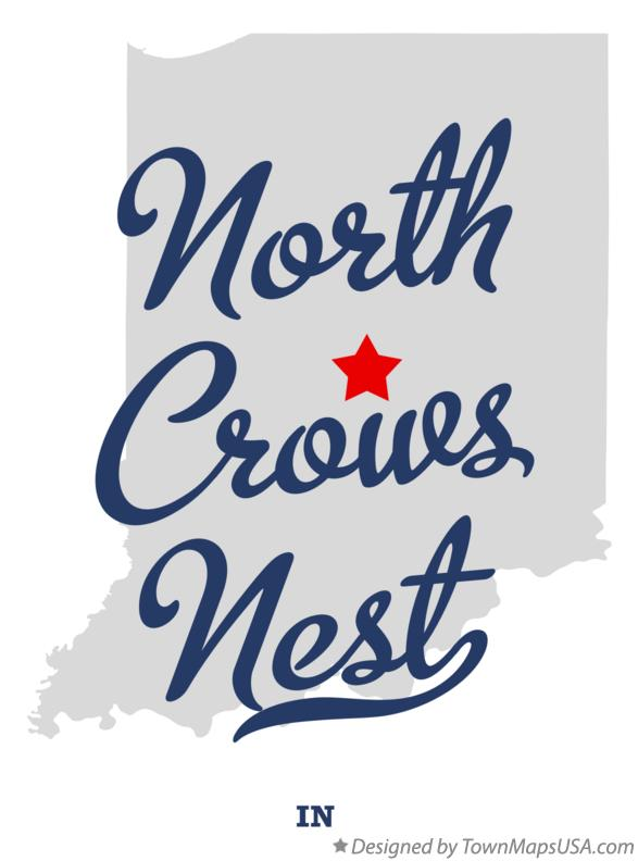 Map of North Crows Nest Indiana IN