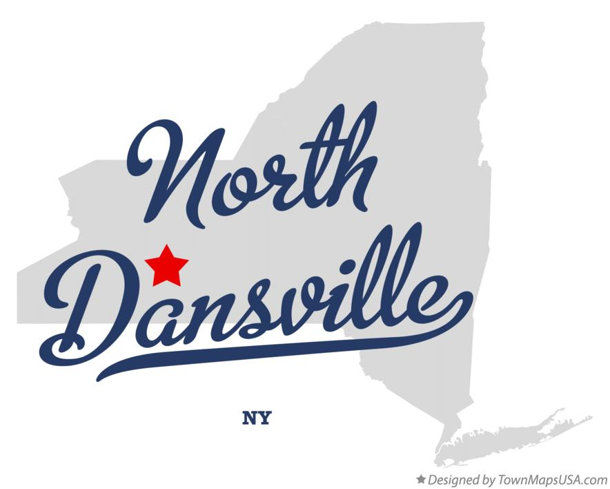 Map of North Dansville New York NY
