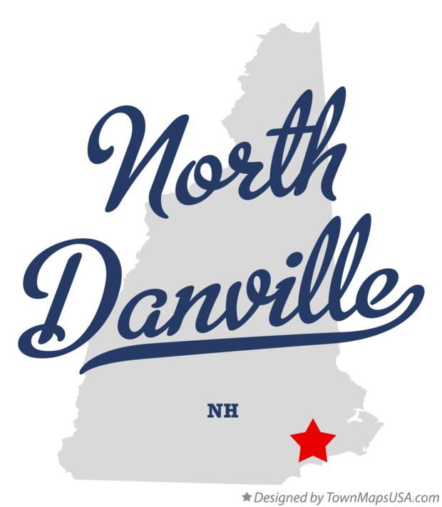 Map of North Danville New Hampshire NH