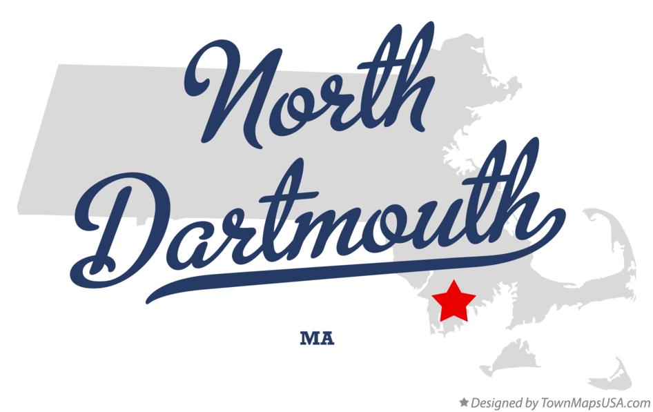 Map of North Dartmouth Massachusetts MA