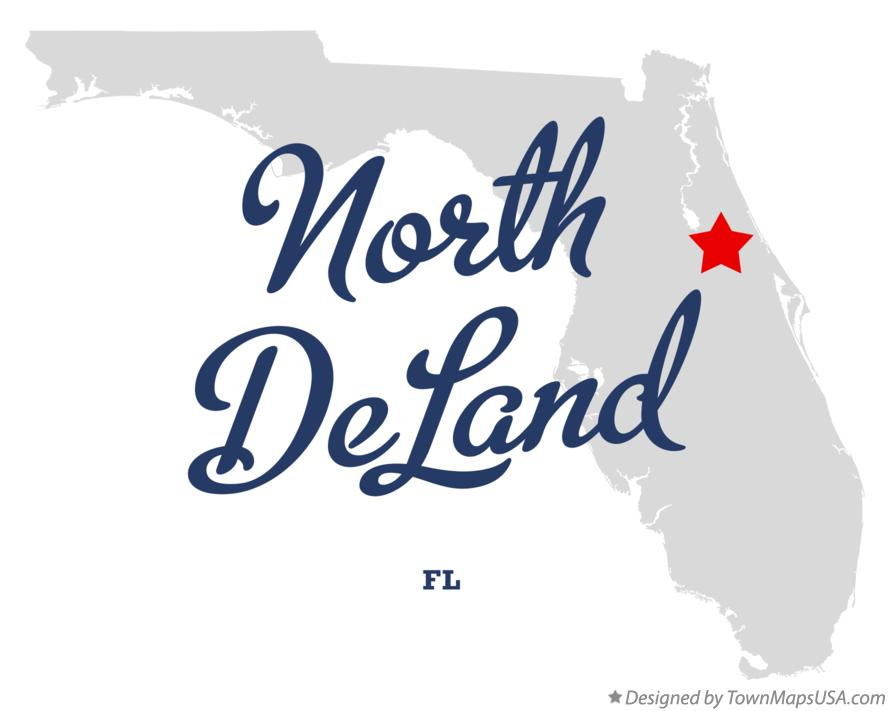 Map of North DeLand Florida FL