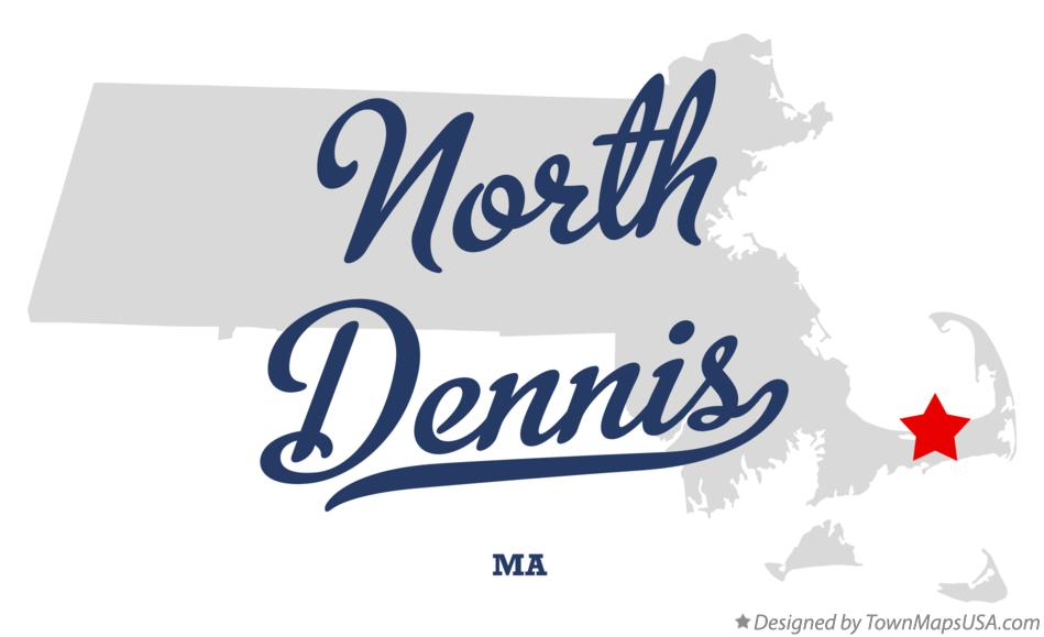 Map of North Dennis Massachusetts MA