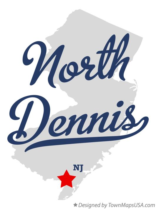 Map of North Dennis New Jersey NJ