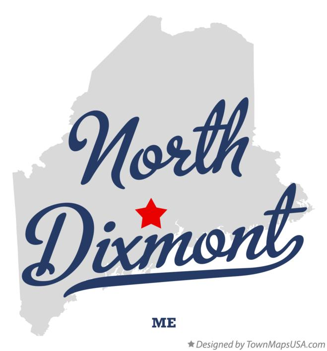 Map of North Dixmont Maine ME