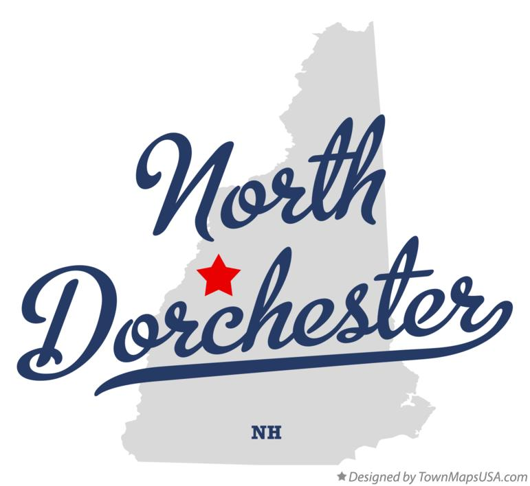 Map of North Dorchester New Hampshire NH