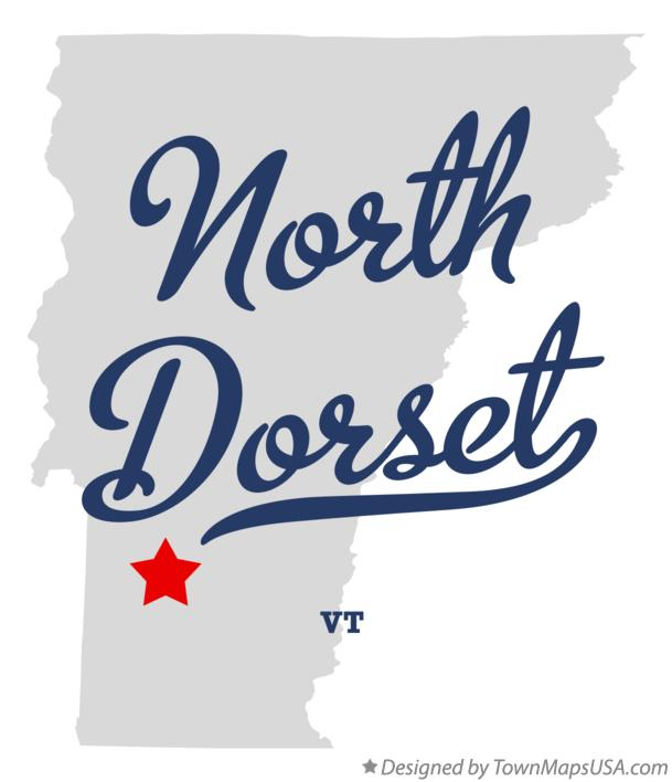 Map of North Dorset Vermont VT