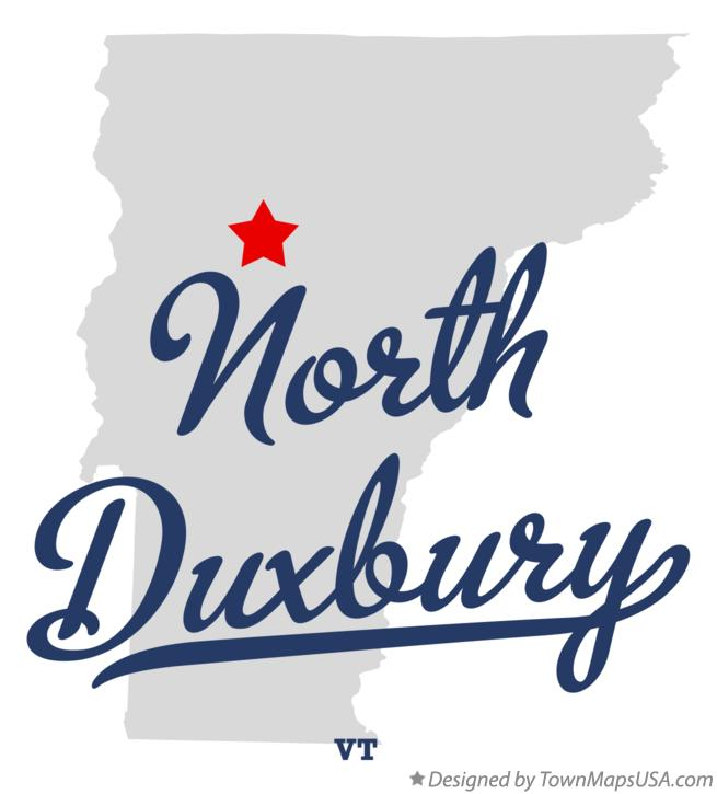 Map of North Duxbury Vermont VT