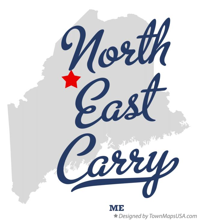 Map of North East Carry Maine ME