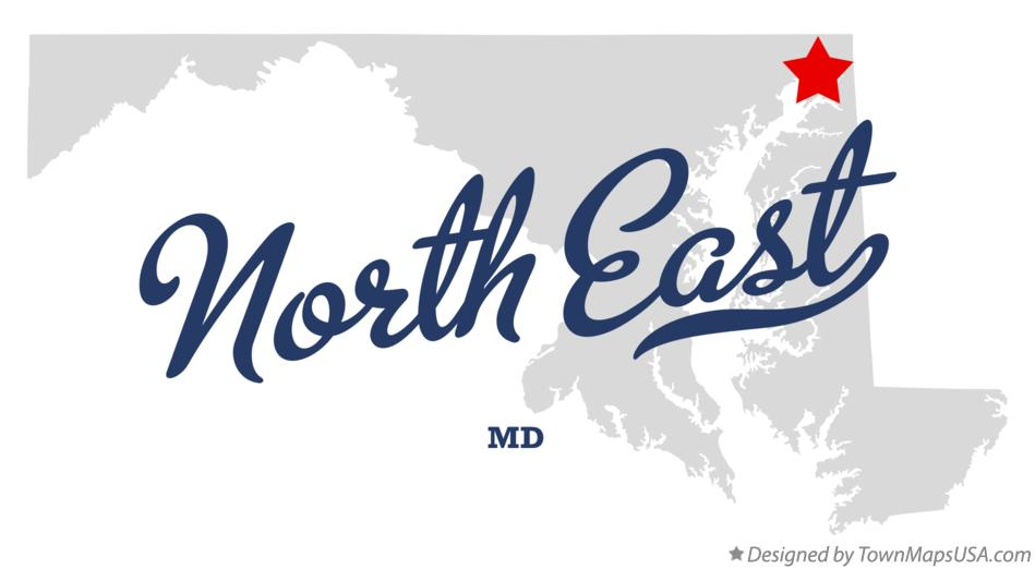 Map of North East Maryland MD