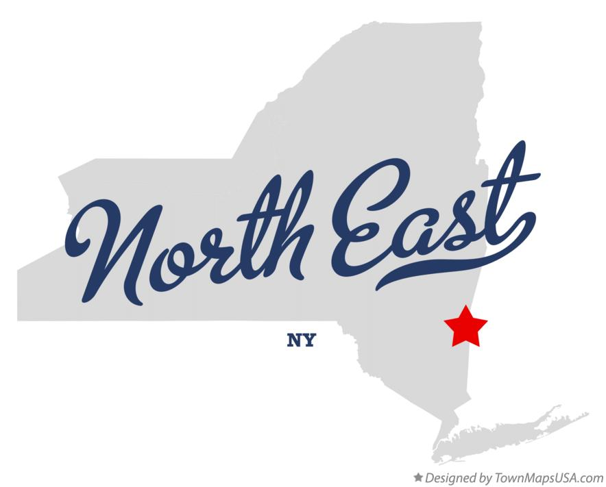 Map of North East New York NY