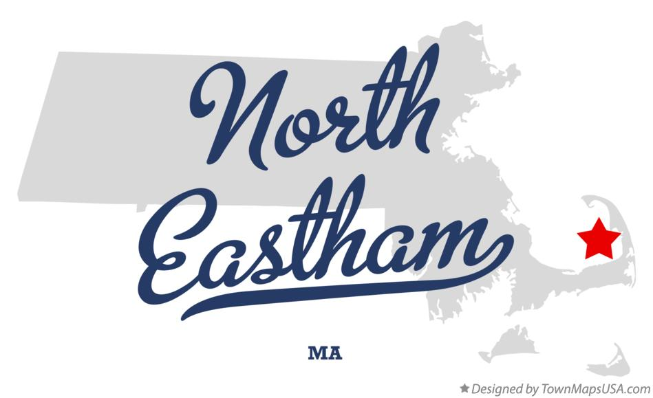 Map of North Eastham Massachusetts MA