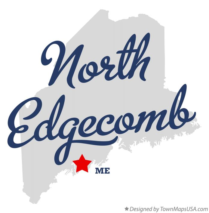 Map of North Edgecomb Maine ME