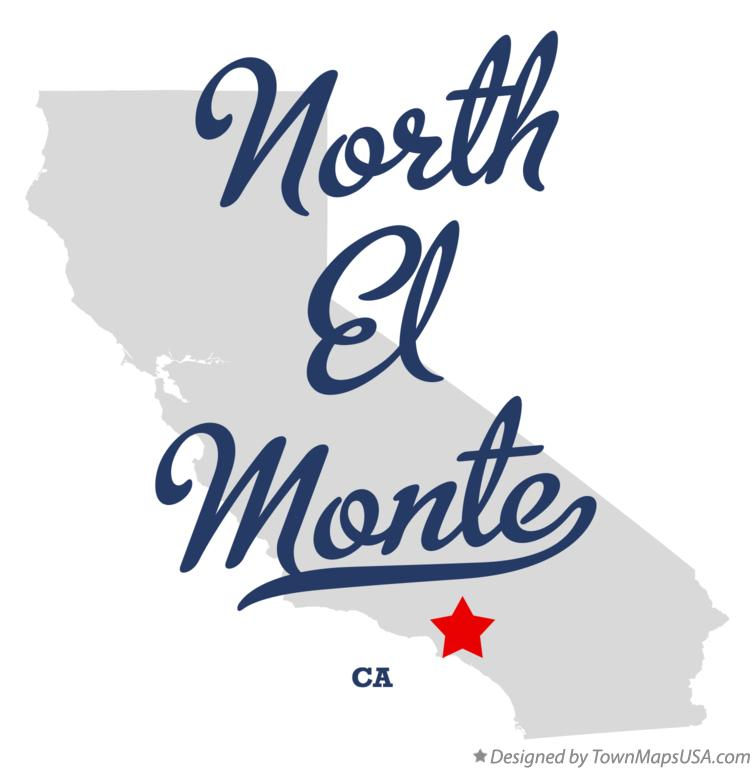 Map of North El Monte California CA