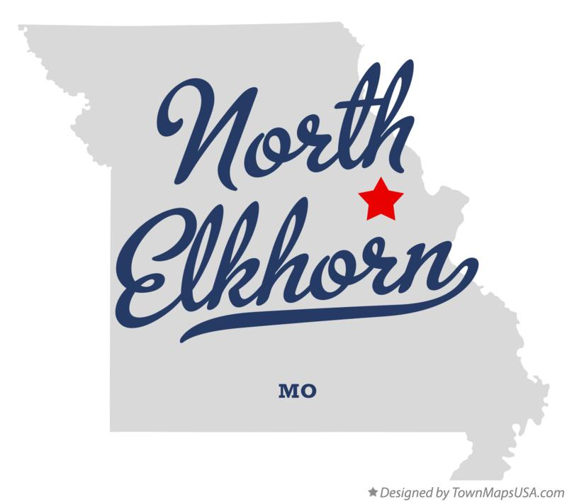 Map of North Elkhorn Missouri MO
