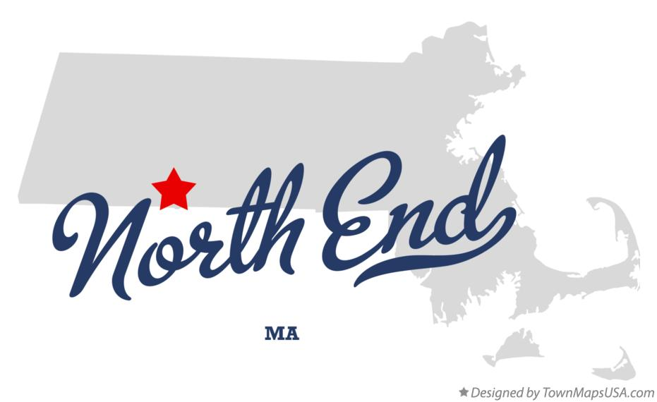 Map of North End Massachusetts MA