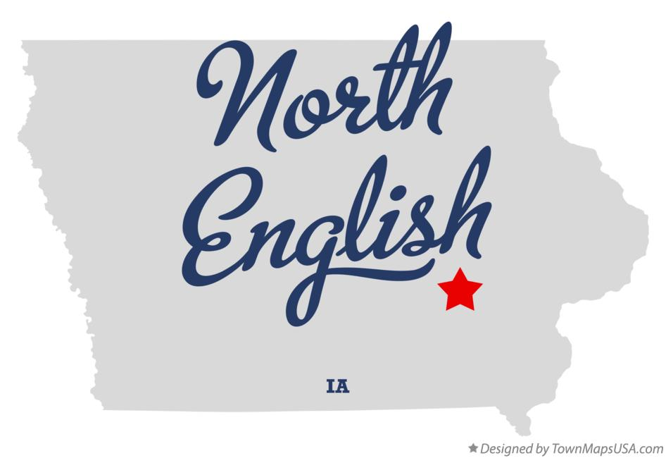 Map of North English Iowa IA