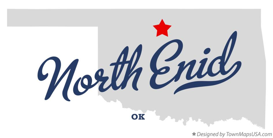 Map of North Enid Oklahoma OK