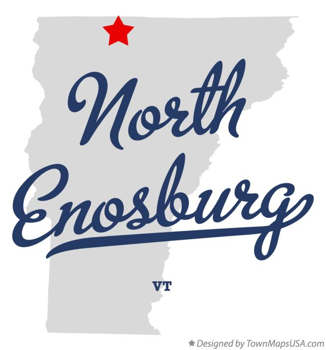 Map of North Enosburg Vermont VT