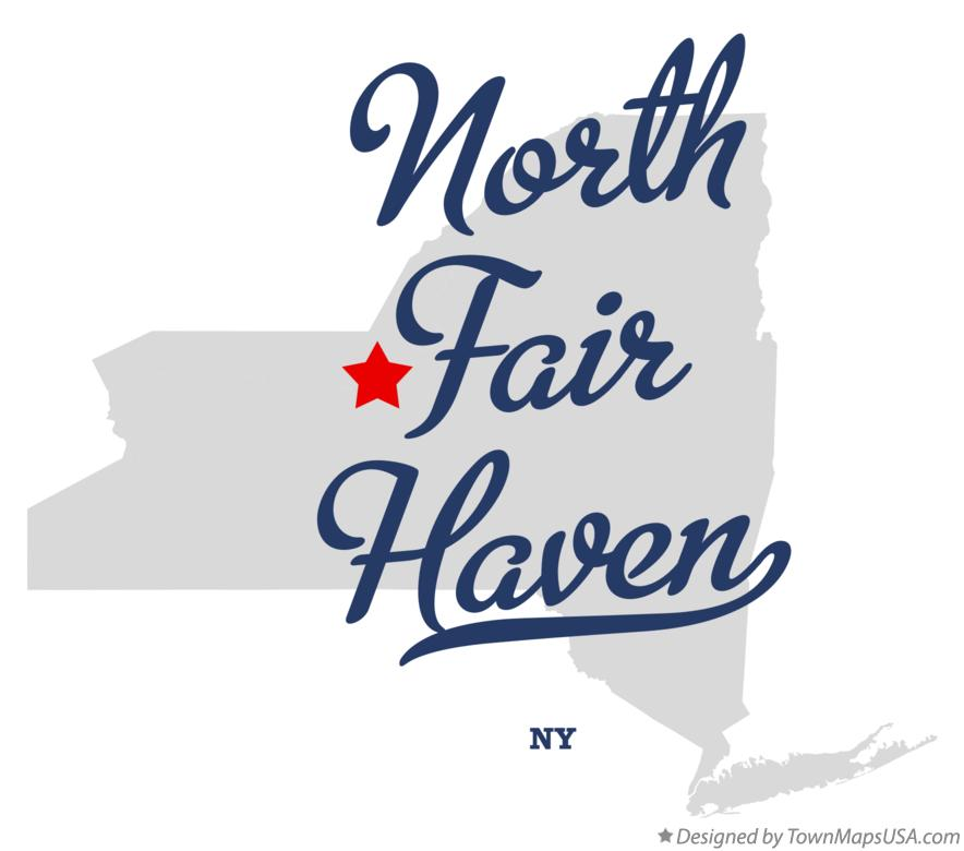 Map of North Fair Haven New York NY