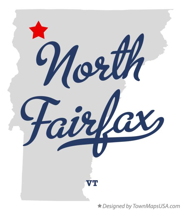 Map of North Fairfax Vermont VT