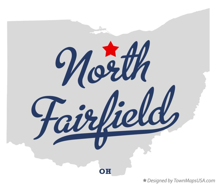 Map of North Fairfield Ohio OH