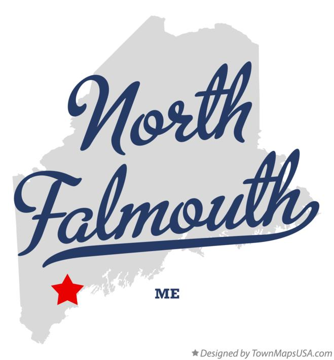 Map of North Falmouth Maine ME