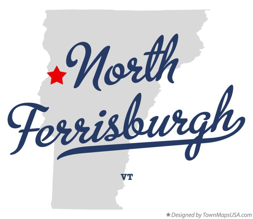 Map of North Ferrisburgh Vermont VT