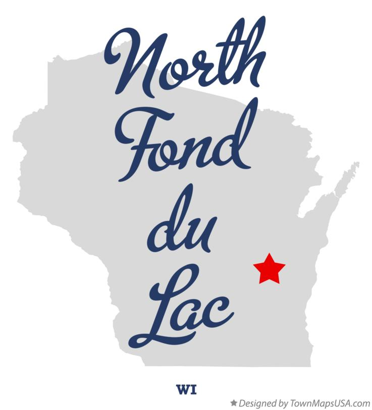 Map of North Fond du Lac Wisconsin WI