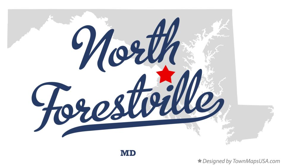 Map of North Forestville Maryland MD