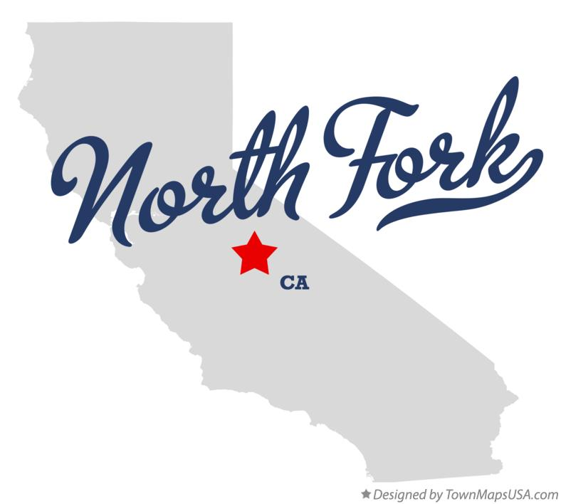 Map of North Fork California CA