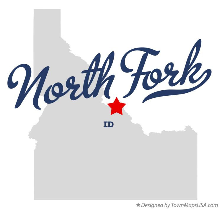 Map of North Fork Idaho ID