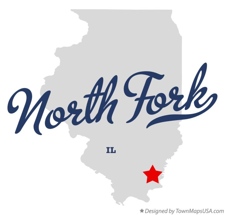 Map of North Fork Illinois IL