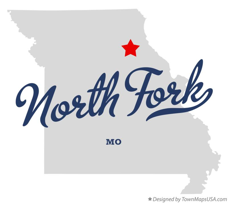 Map of North Fork Missouri MO