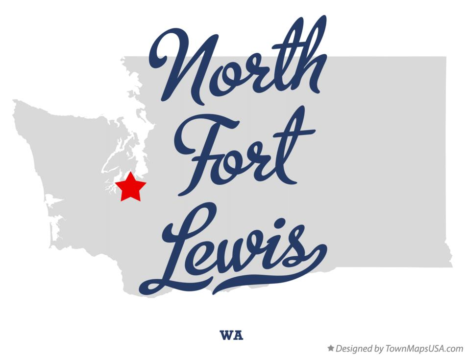 Map of North Fort Lewis Washington WA