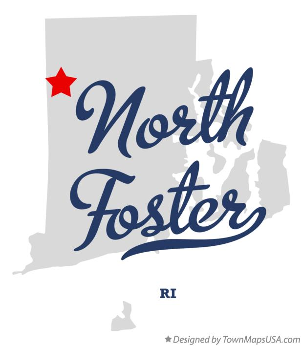 Map of North Foster Rhode Island RI