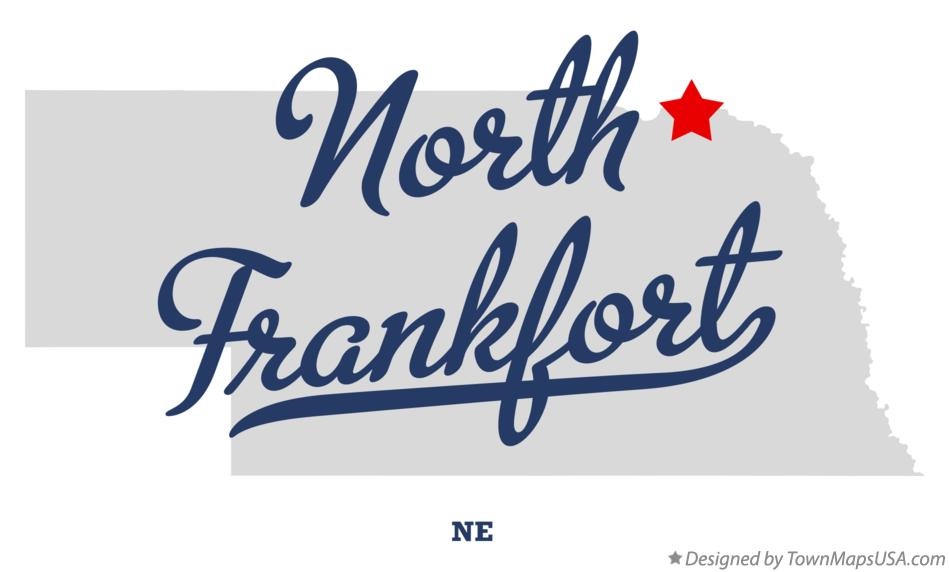 Map of North Frankfort Nebraska NE