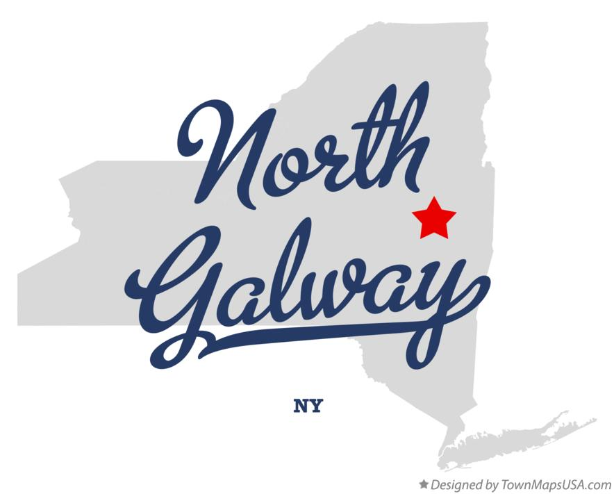 Map of North Galway New York NY
