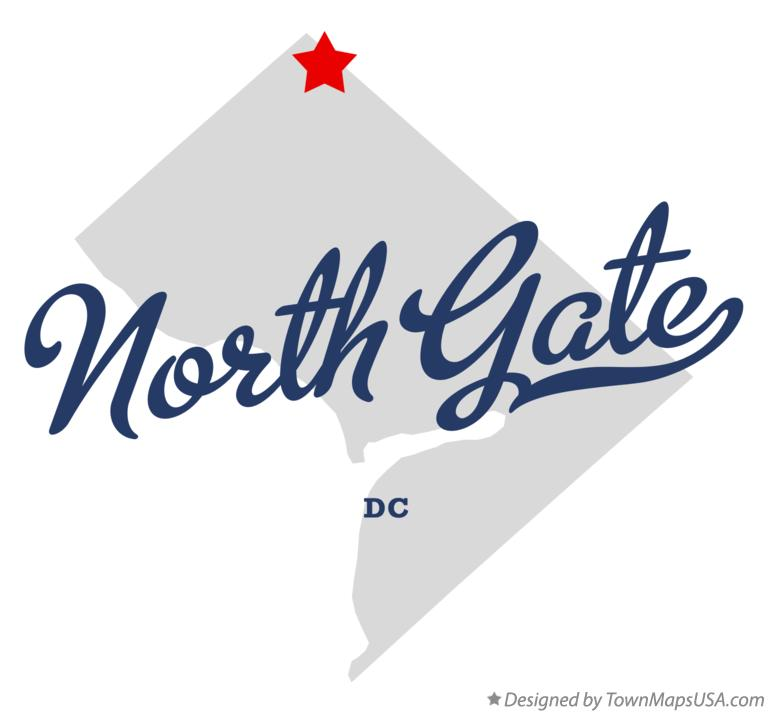 Map of North Gate District Of Columbia DC