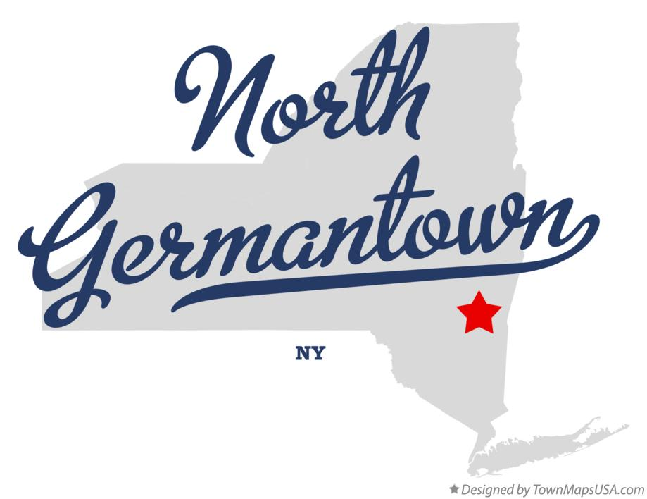 Map of North Germantown New York NY