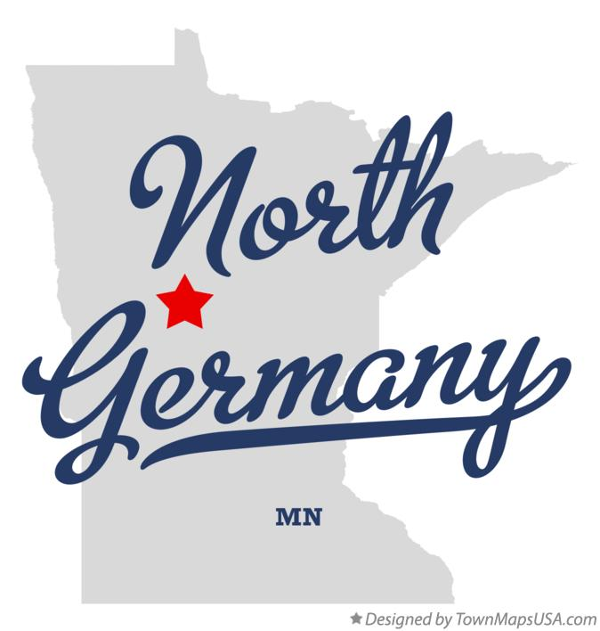 Map of North Germany Minnesota MN