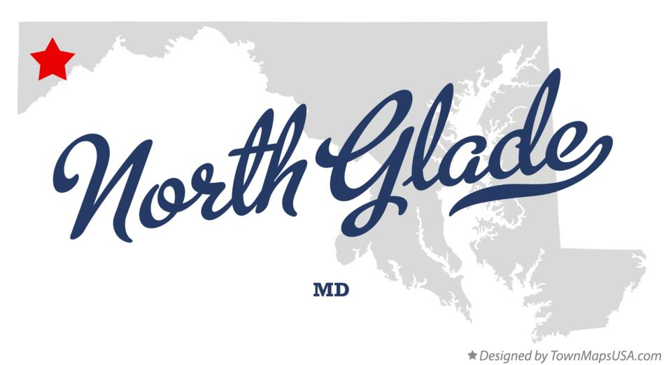 Map of North Glade Maryland MD